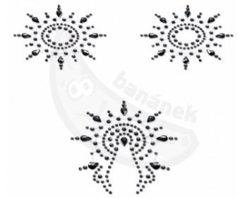 Fotka 1 - Samolepicí černé ozdoby na bradavky a vaginu Petits Joujoux Gloria