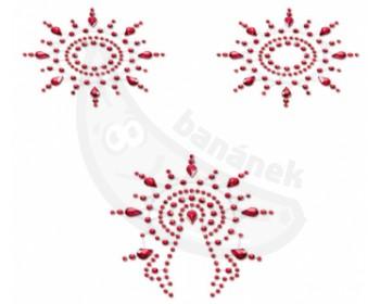 Fotka 1 - Samolepicí ozdoby na bradavky a vaginu červené