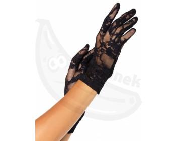 Fotka 1 - Krátké krajkové rukavice Leg Avenue