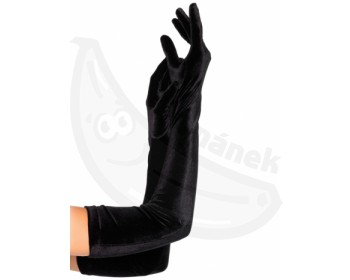Fotka 1 - Dlouhé sametové rukavice Leg Avenue