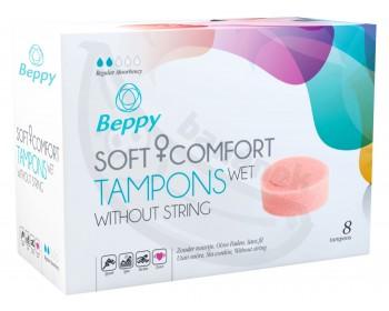 Fotka 1 - Menstruační vlhčené tampony Beppy WET 8 ks