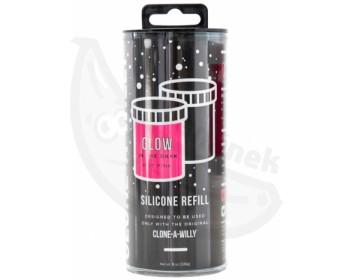 Fotka 1 - Náhradní růžový silikon pro Clone-A-Willy svítící ve tmě