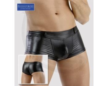 Fotka 1 - Lesklé slipy Svenjoyment Underwear lesklá černá