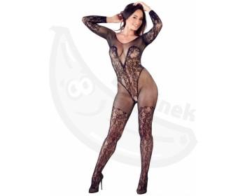 Fotka 1 - Síťovaný catsuit s krajkou a otevřeným rozkrokem Mandy Mystery