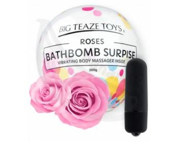 Fotka 1 - Bomba do koupele s vibrační patronou Surprise s vůní růže