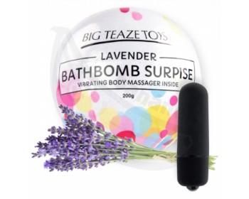 Fotka 1 - Bomba do koupele s vibrační patronou Surprise s vůní levandule