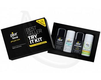 Fotka 1 - Sada lubrikačních gelů na vyzkoušení PJUR Try It Kit 4x 10 ml