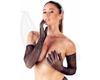 Fotka 1 - Dlouhé síťované rukavice se vzorem Cottelli Collection
