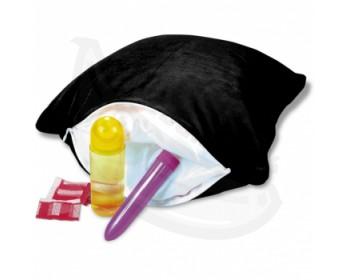 Fotka 1 - Diskrétní polštář na uskladnění erotických pomůcek černý