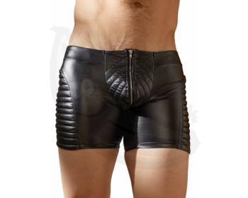 Fotka 1 - Wetlook prošívané pánské boxerky se zipem NEK