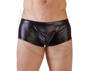 Fotka 1 - Wetlook pánské boxerky se skrytým otvorem na penis a varlata