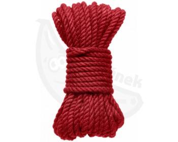 Fotka 1 - Červené konopné lano Hogtied Bind & Tie 9 m
