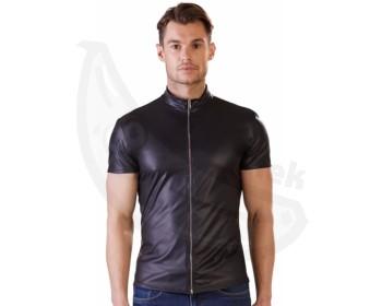 Fotka 1 - Wetlook pánské tričko s krátkým rukávem a zipem NEK