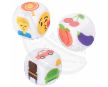 Fotka 1 - Erotické hrací kostky Emojigasm 3 ks