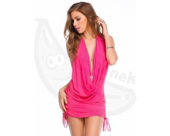 Fotka 1 - Růžové mini šatičky Fuchsia růžové