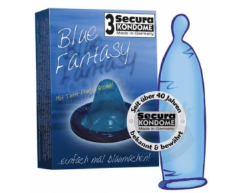 Fotka 1 - Kondomy Secura Blue Fantasy modré