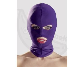 Fotka 1 - Maska na hlavu otvory pro oči a ústa fialová