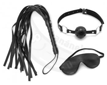 Fotka 1 - BDSM sada důtky, roubík a maska