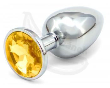 Fotka 1 - Zlatý anální kolíček se šperkem větší