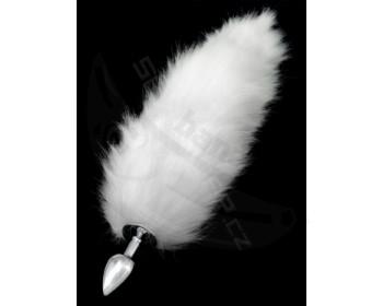 Fotka 1 - Anální kovový kolík s bílým liščím ocáskem