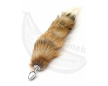 Fotka 1 - Anální kolík s hnědým liščím ocáskem