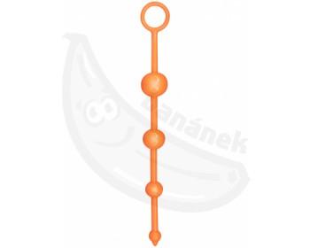 Fotka 1 - Anální oranžové kuličky ToyJoy oranžová
