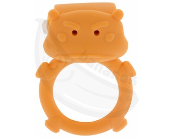 Fotka 1 - Erekční kroužek ve tvaru hrošíka oranžová