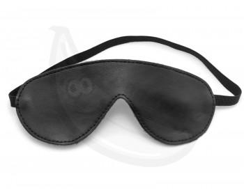 Fotka 1 - Maska na oči s podšívkou z umělého kožíšku černá