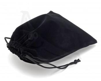 Fotka 1 - Černý sametový pytlík 11x16 cm černá