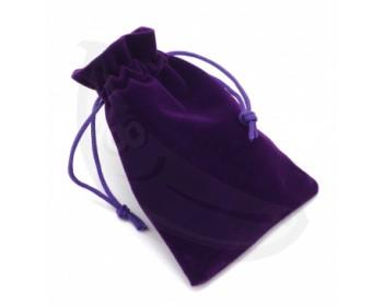 Fotka 1 - Fialový sametový pytlík 9x12 cm fialová