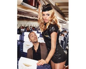Fotka 1 - Sexy letuška lakovaný kostým