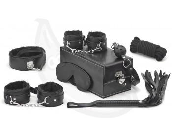 Fotka 1 - Erotická BDSM sada v černém kufříku 7 pomůcek černá