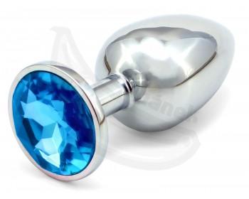 Fotka 1 - Anální kolík se světle modrým krystalem průměr 3,4cm