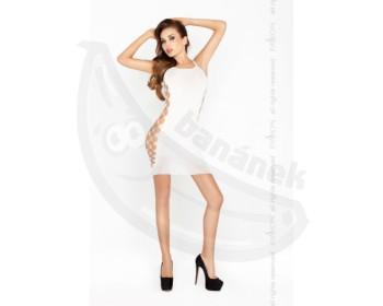 Fotka 1 - Bílé sexy šaty s odhalenými boky bílá