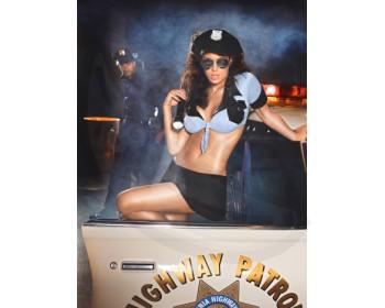 Fotka 1 - Erotický kostým sexy policistka modročerná