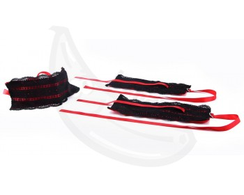 Fotka 1 - Satin Lace Kit pro erotickou bondáž červená, černá