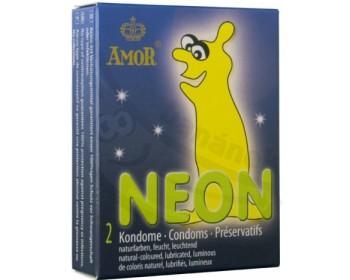Fotka 1 - Kondomy Neon Amor 2ks svítící