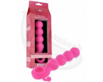 Fotka 1 - Silikonové dildo pro vaginální i anální dráždění růžové