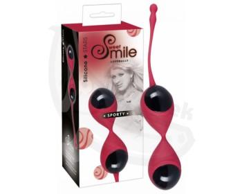Fotka 1 - Smile Sporty venušiny kuličky červenočerné