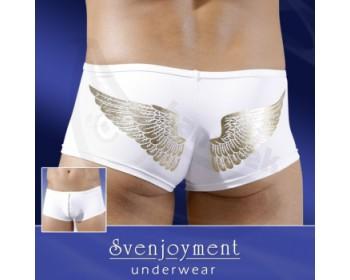 Fotka 1 - Bílé boxerky se zlatými křídly bílá
