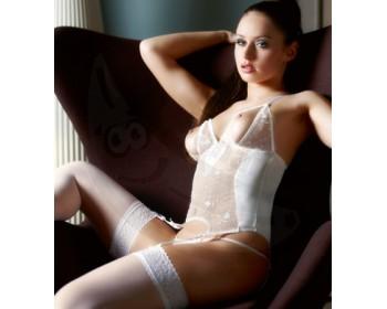 Fotka 1 - Erotický komplet Abierta Fina bílá