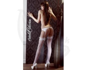 Fotka 1 - Podvazkové punčochy Cottelli Collection bílá