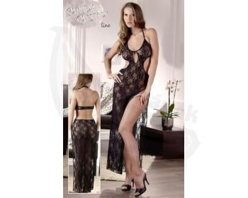 Fotka 1 - Erotické krajkové šaty Mandy Mystery černé