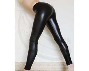Fotka 1 - Latexové legíny stylové leskle černé