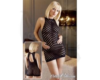 Fotka 1 - Mini šaty se sexy síťováním oblečení černé