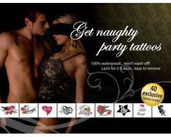Fotka 1 - Erotické tetování Get Naughty Party červeno černé