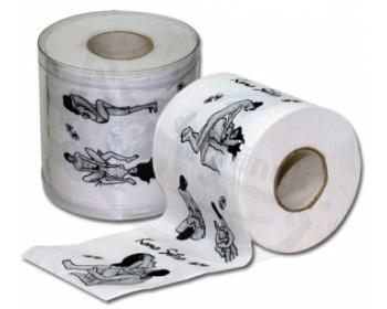 Fotka 1 - Toaletní papír Kamasutra ideální dárek bílo černý