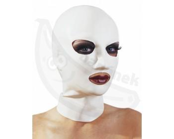 Fotka 1 - Latexová maska dámská bílá
