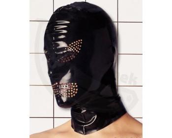 Fotka 1 - Latexová maska s dírkami pro oči a ústa leskle černá