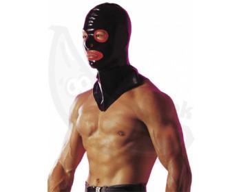 Fotka 1 - Latexová maska Kat leskle černá